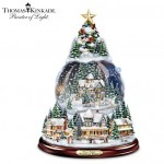 Thomas Kinkade Christmas Tree Snow Globe