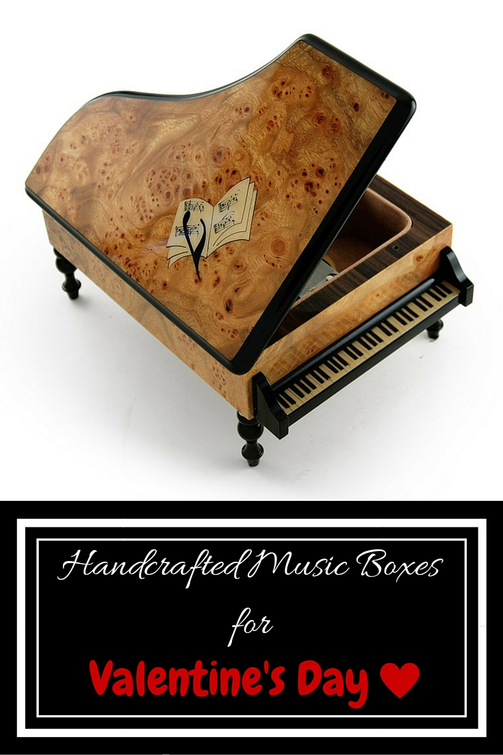 Handcrafted Music Boxes for Valentine' Day