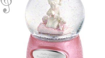 Praying Girl Musical Snow Globe