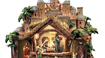 Thomas Kinkade Musical Nativity Scene