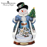 Thomas Kinkade Snowman with Lights